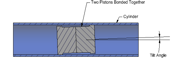 two pistons bonded together